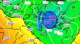 Situazione a 500 Hpa - Lunedì 9 Gennaio